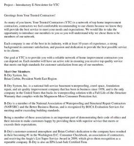 YTC Newsletter